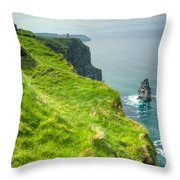 Cliff Of Moher 25 Throw Pillow