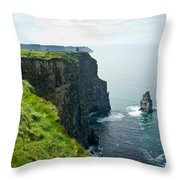Cliff Of Moher 28 Throw Pillow