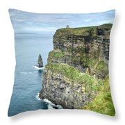 Cliff Of Moher 35 Throw Pillow