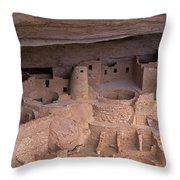 Cliff Palace At Mesa Verde Throw Pillow