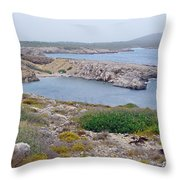 Cliffs And Coves Of Son Parc  Throw Pillow