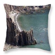 Cliffs At Grand Manan Island, Canada Throw Pillow