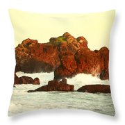 Cliffs In The Warm Evening Light Throw Pillow