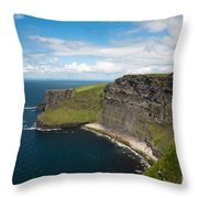 Cliffs Of Mohar Throw Pillow