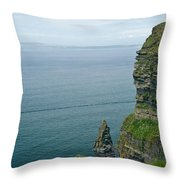 cliffs of Moher 36 Throw Pillow