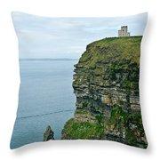 cliffs of Moher 37 Throw Pillow