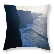 Cliffs Of Moher,co Clare,irelandview Of Throw Pillow