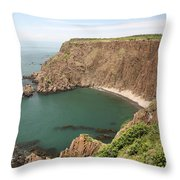 Cliffs On Grand Manan Island Throw Pillow