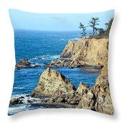 Cliffside Oceanview Throw Pillow