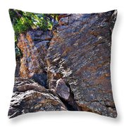 Climbing Rocks And Trees Throw Pillow