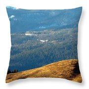 Climbing Skyward Throw Pillow by Will Borden