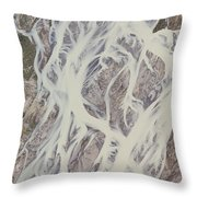 Cline River Showing Heavy Siltation Throw Pillow