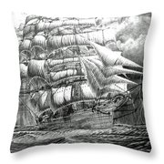 Clipper In The Storm Filtered Throw Pillow