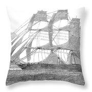 Clipper Ship, 1850 Throw Pillow