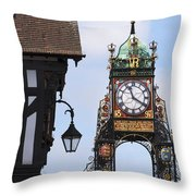 Clock In Chester Throw Pillow