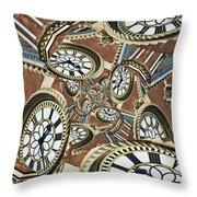 Clocked Throw Pillow