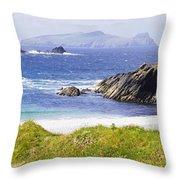 Clogher Beach, Blasket Islands, Dingle Throw Pillow