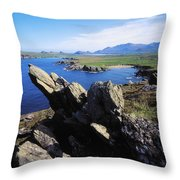 Clogherhead, Co Kerry, Dingle Throw Pillow