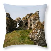 Clonmacnoise Castle Ruin - Ireland Throw Pillow
