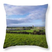 Clonmacnoise, Co Offaly, Ireland Throw Pillow