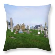 Clonmacnoise Monastery, County Offaly Throw Pillow