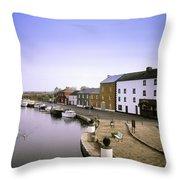 Cloondara, Co Longford, Ireland Town At Throw Pillow
