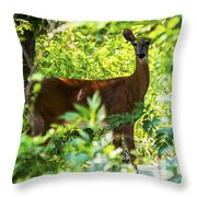 Close Eye Throw Pillow