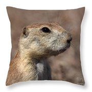 Close On Prairie Dog Throw Pillow
