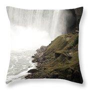 Close To The Falls Throw Pillow