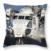 Close-up Of A Ch-53 Sea Stallion Throw Pillow
