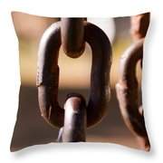 Close Up Of A Chain Link Throw Pillow