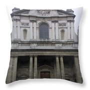 Close Up Of A Classical Architecture Of A Building In London Throw Pillow