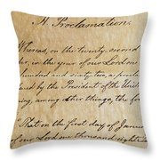 Close-up Of A Copy Of The Emancipation Throw Pillow