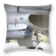 Close-up Of A Sniper Advanced Targeting Throw Pillow