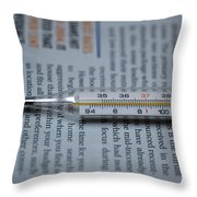 Close Up Of A Thermometer Throw Pillow