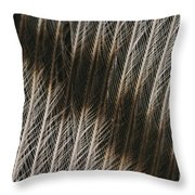Close-up Of A Turkey Feather Throw Pillow