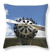 Close-up Of Engine On Antique Seaplane Canvas Poster Print Throw Pillow