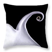 Close-up Of Jimsonweed Flower Throw Pillow