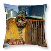 Close Up Of Rusty Truck Throw Pillow