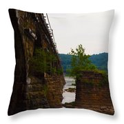 Close Up Of The Bridge Over The River Throw Pillow