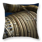 Close-up View Of A Rocket Engine Throw Pillow by Roth Ritter