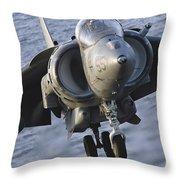Close-up View Of An Av-8b Harrier II Throw Pillow