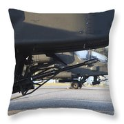 Close-up View Of The M230 Chain Gun Throw Pillow