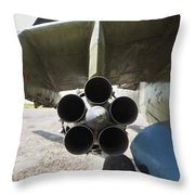 Close-up View Of The Rocket Pod On An Throw Pillow