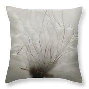 Close View Of A Dandelion Flower Throw Pillow