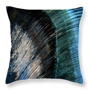 Close View Of A Sheet Of Water Pouring Throw Pillow