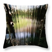 Close View Of A Sheet Of Water Throw Pillow
