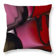 Close View Of Colored Water, Imitating Throw Pillow