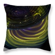 Close View Of Glass Bowl Throw Pillow