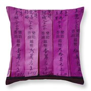 Close View Of Offerings Made Throw Pillow